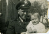 Lt. Homer A. Brady with daughter Pam at age one